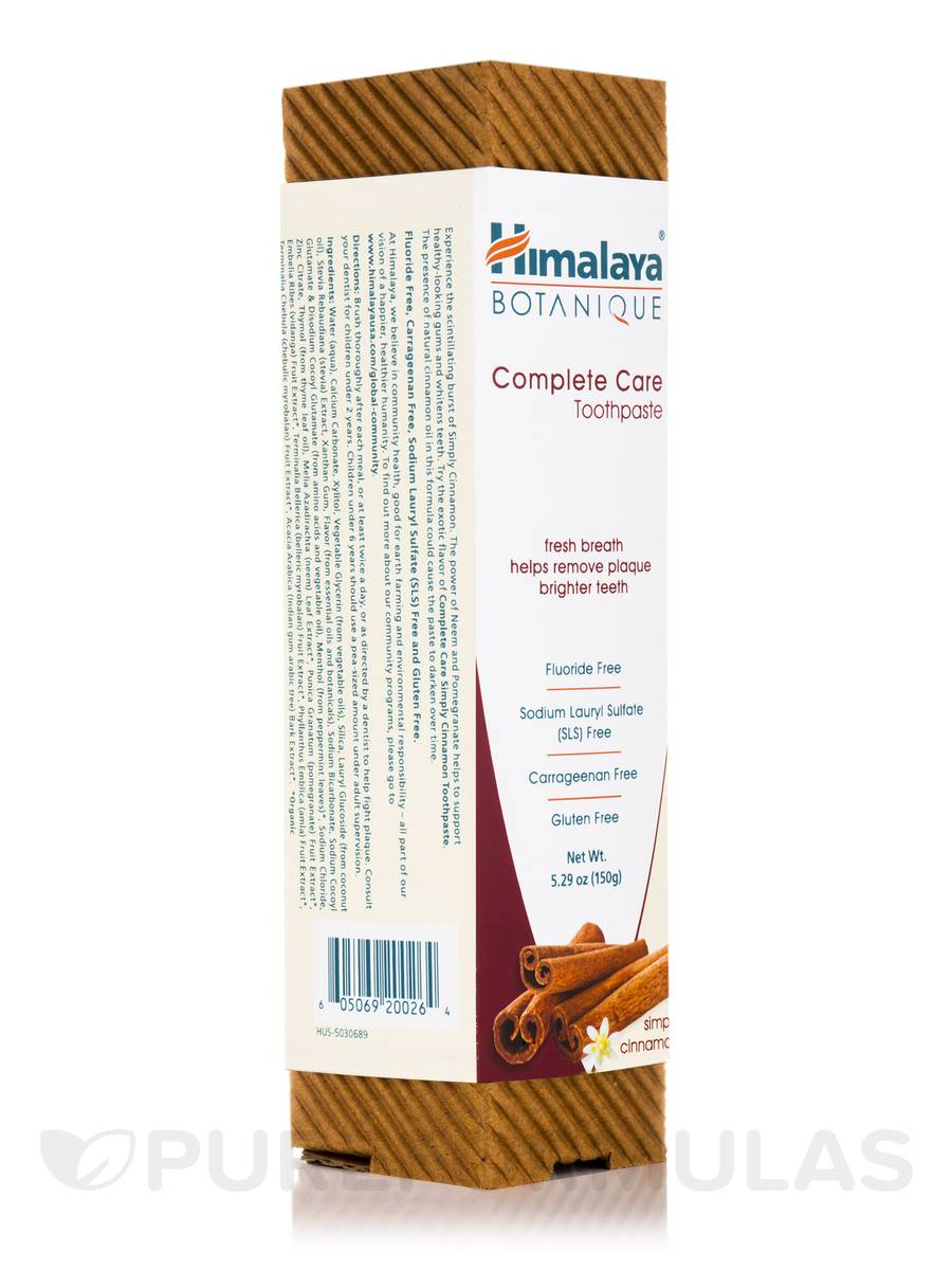 Botanique Complete Care Toothpaste, Simply Cinnamon - 5.29 oz (150 Grams)