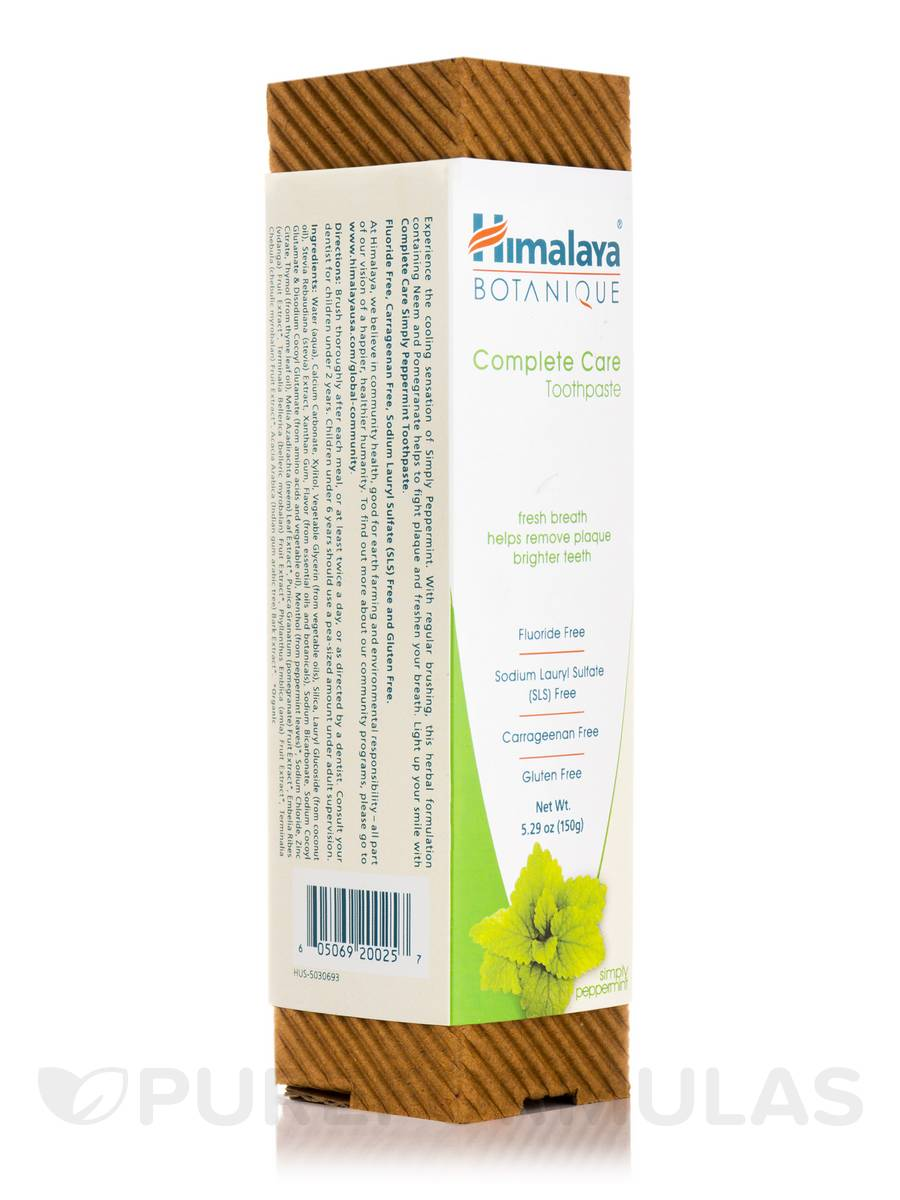 Botanique Complete Care Toothpaste, Simply Peppermint - 5.29 oz (150 Grams)