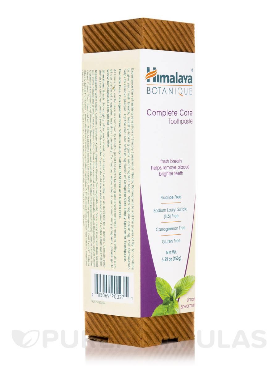 Botanique Complete Care Toothpaste, Simply Spearmint - 5.29 oz (150 Grams)
