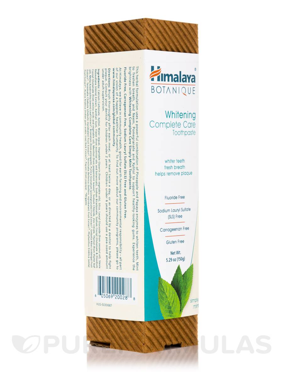 Botanique Whitening Complete Care Toothpaste, Simply Mint - 5.29 oz (150 Grams)