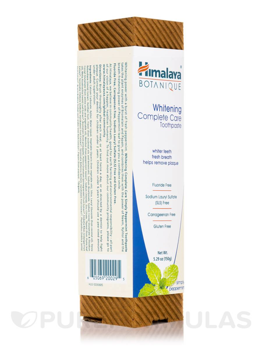 Botanique Whitening Complete Care Toothpaste, Simply Peppermint - 5.29 oz (150 Grams)