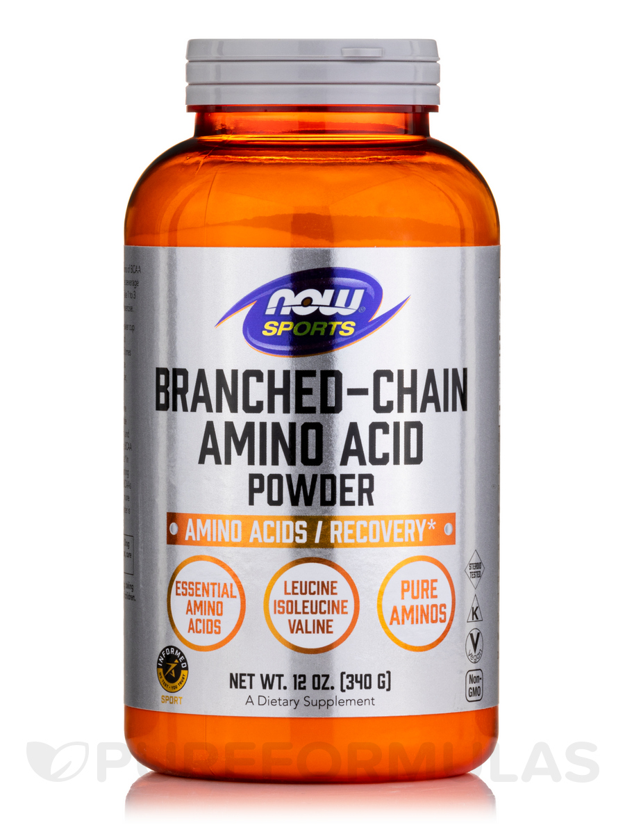 NOW® Sports - Branched Chain Amino Acid Powder - 12 oz (340 Grams)