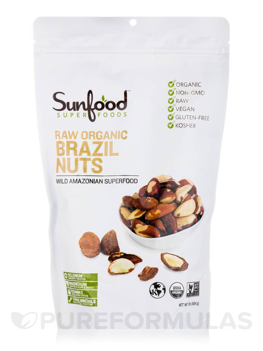 Raw Organic Brazil Nuts - 1 lb (454 Grams)