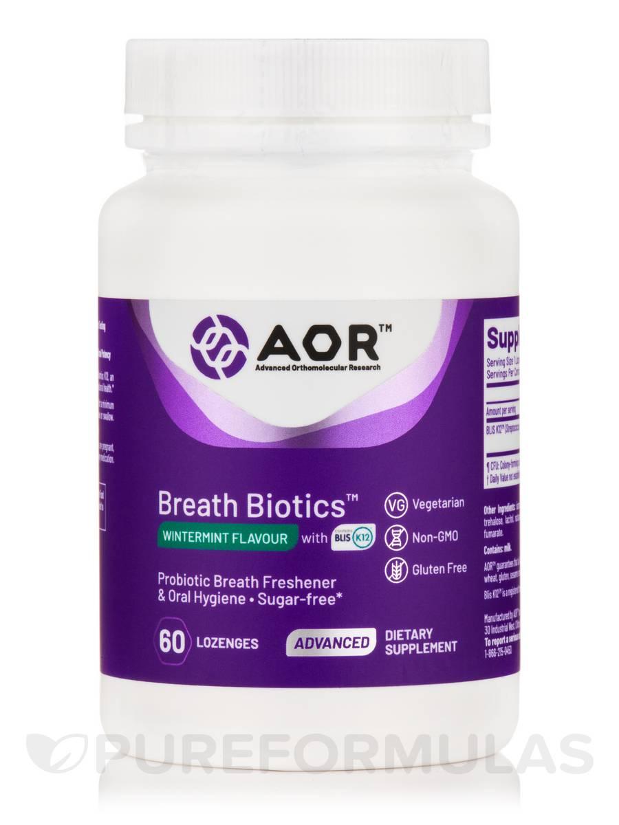 Breath Biotics™, Wintermint Flavor - 60 Lozenges