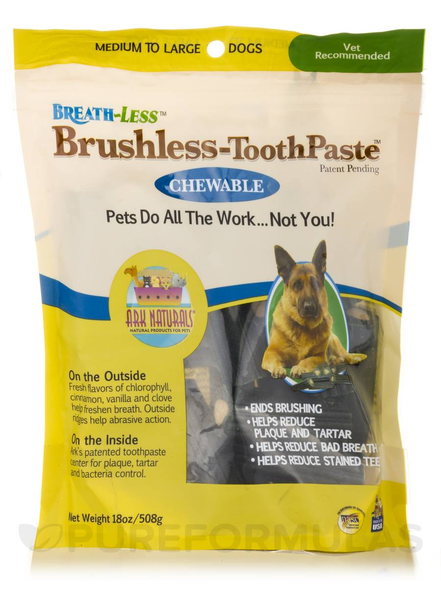 Breath-Less Brushless Toothpaste for Medium & Large Dogs - 18 oz (508 Grams)