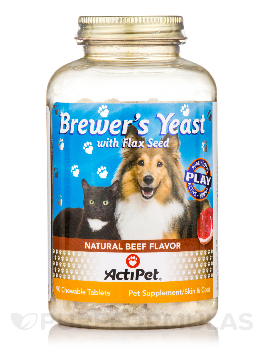 Brewer's Yeast, Natural Beef Flavor - 90 Chewable Tablets