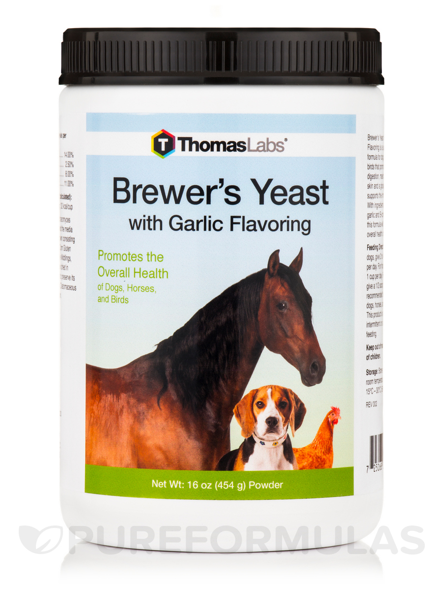 Brewer's Yeast/Garlic - 16 oz (454 Grams)