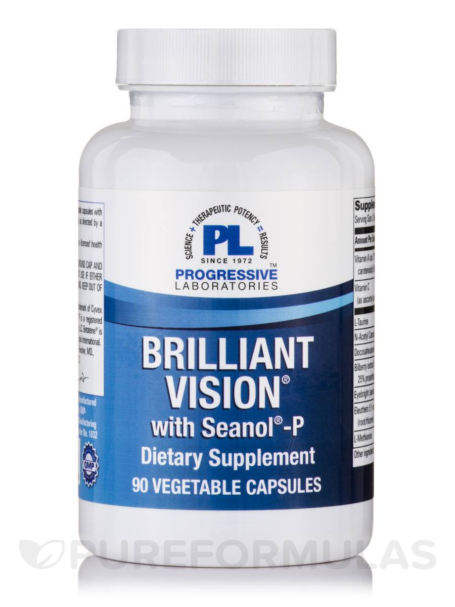Brilliant Vision with Seanol-P - 90 Vegetable Capsules