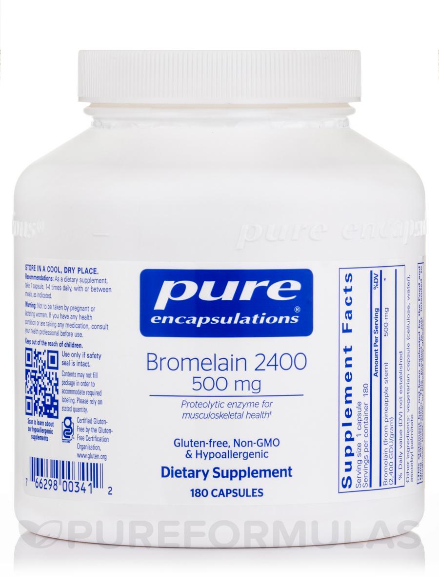 Bromelain 2400 500 mg - 180 Capsules