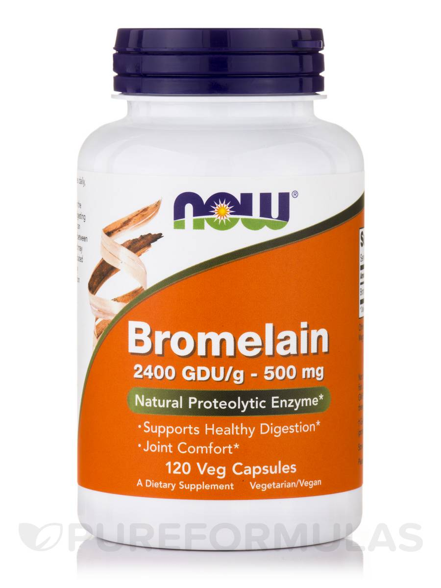 Bromelain 2400 GDU/g 500 mg - 120 Vegetable Capsules