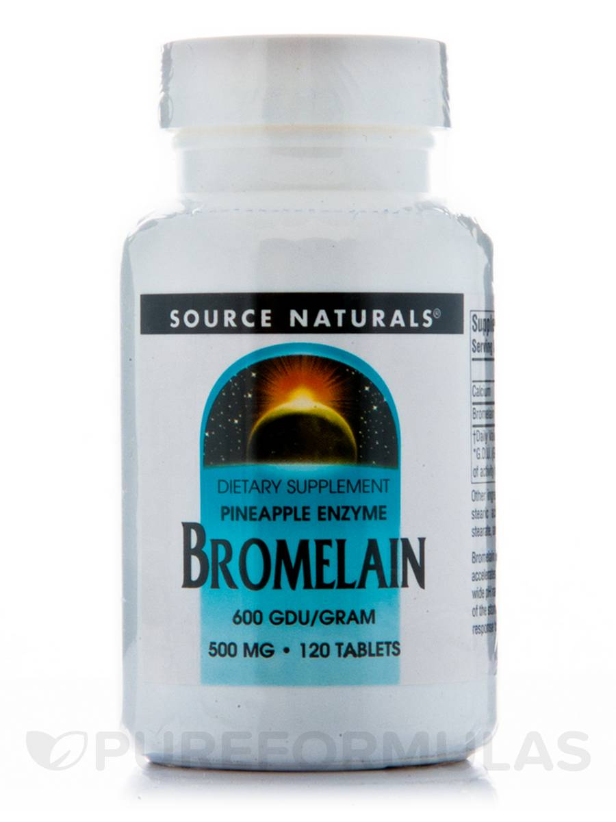 Bromelain 500 mg 600 GDU - 120 Tablets