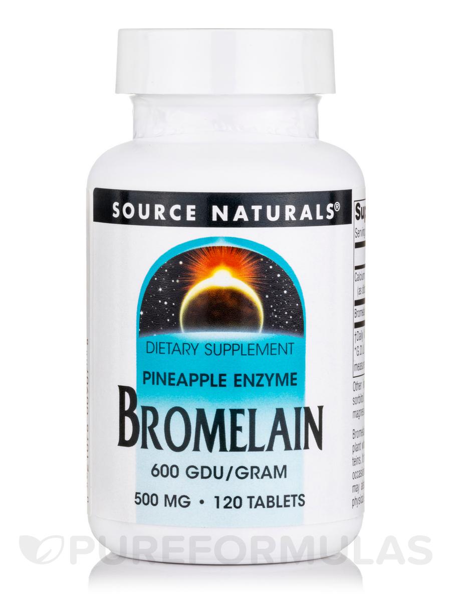 Bromelain 500 mg 600 GDU - 120 Tablets