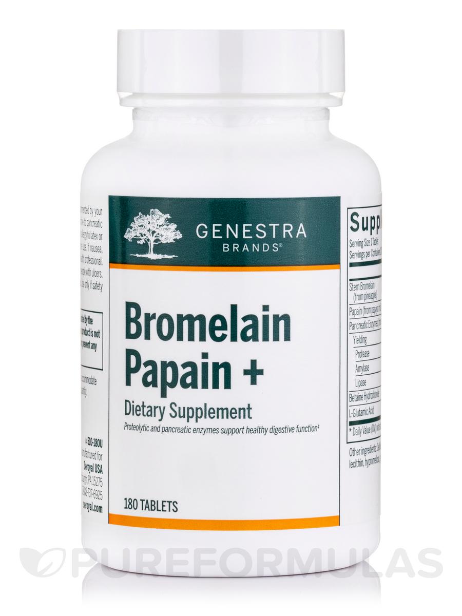 Bromelain Papain+ - 180 Tablets