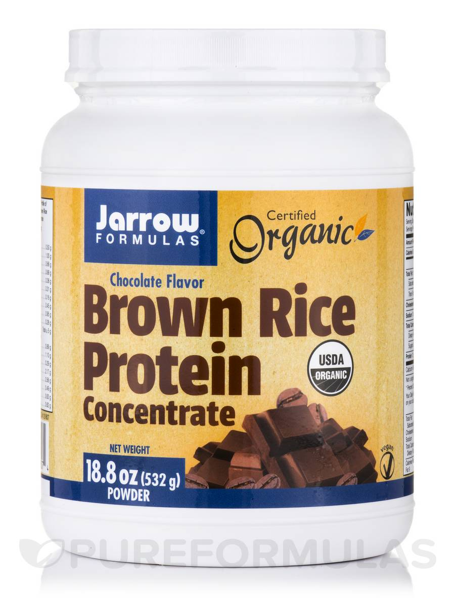 Brown Rice Protein Concentrate, Chocolate Flavor - 18.8 oz (532 Grams)