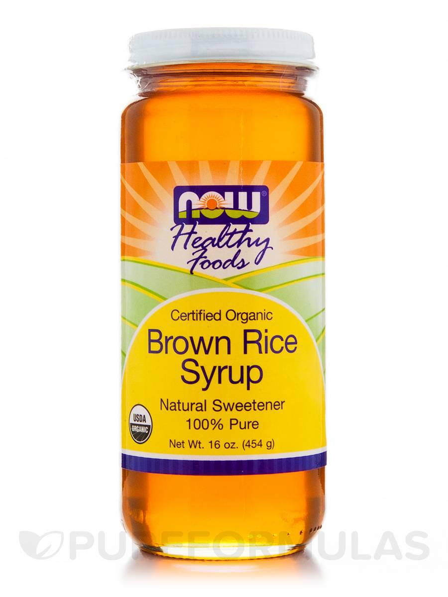 NOW® Real Food - Brown Rice Syrup (Organic, Non-GE) - 16 oz (454 Grams)