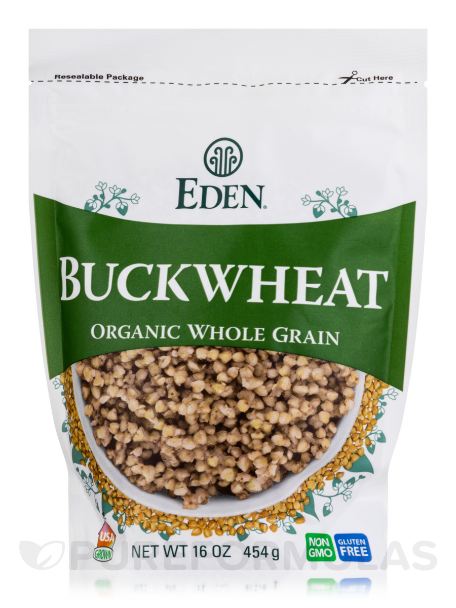 Buckwheat 100% Whole Grain, Organic - 16 oz (454 Grams)