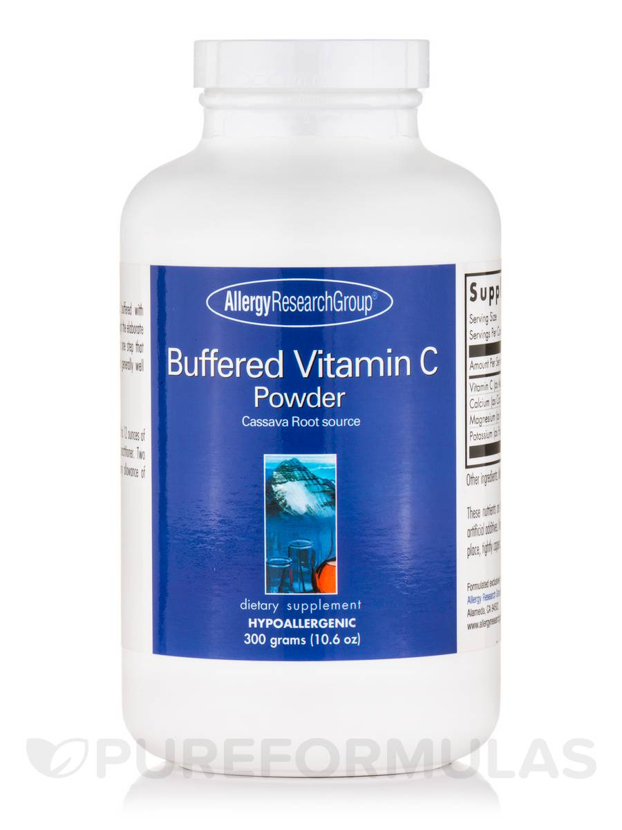 Buffered Vitamin C Powder (Cassava Root Source) - 10.6 oz (300 Grams)