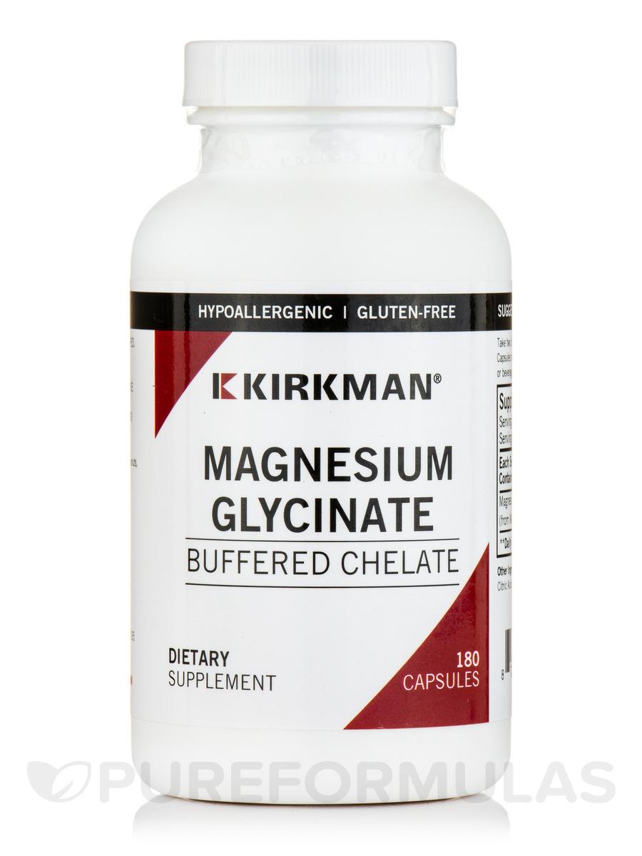 Buffered Magnesium Bisglycinate -Hypoallergenic - 180 Capsules