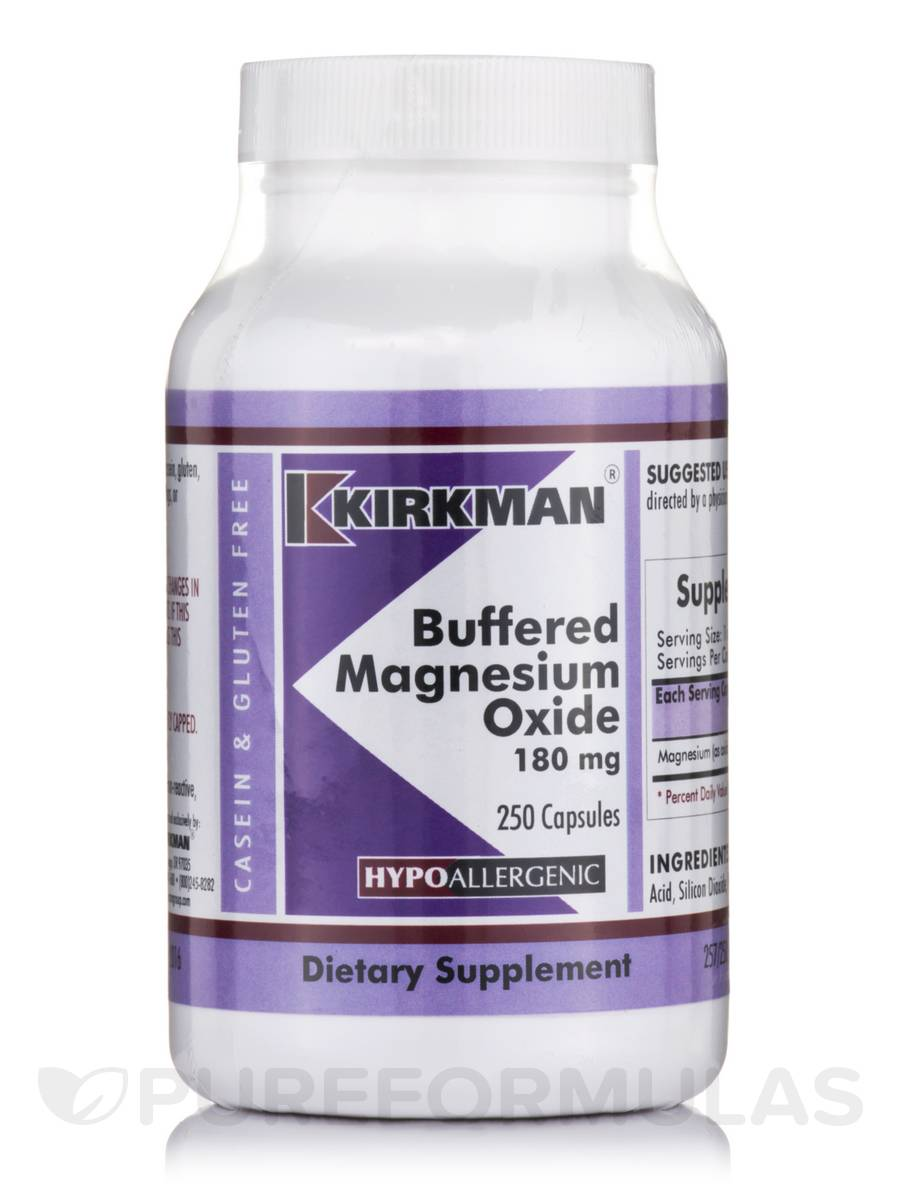 buffered magnesium oxide 180 mg  hypoallergenic   250 capsules