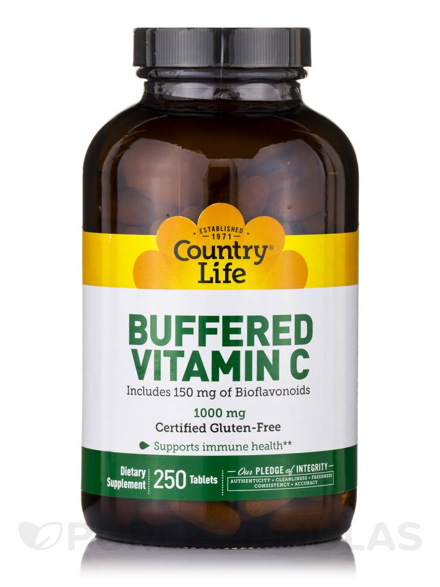 Buffered Vitamin C 1000 mg with Bioflavonoids - 250 Tablets