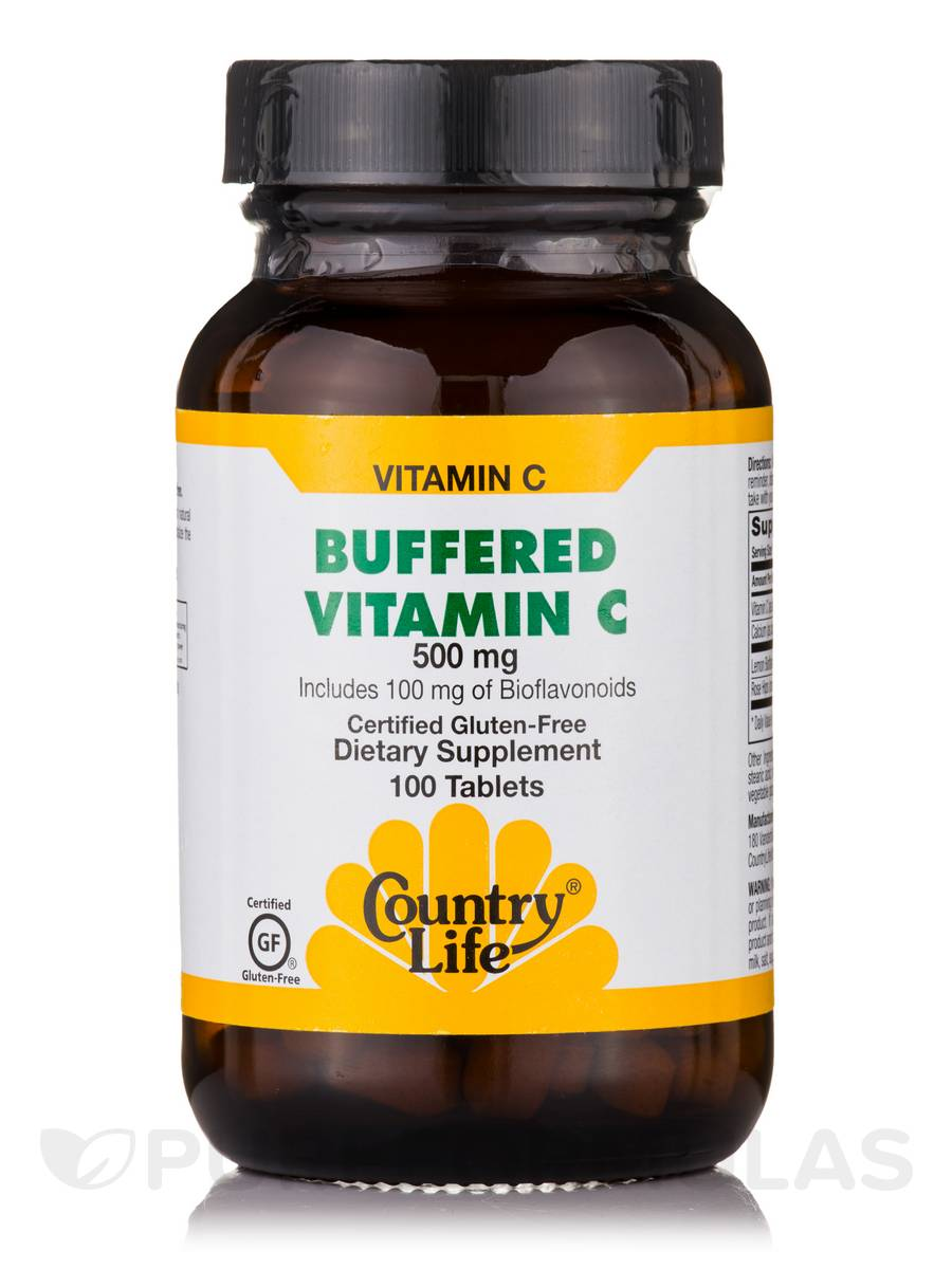 Buffered Vitamin C 500 mg with Bioflavonoids - 100 Tablets