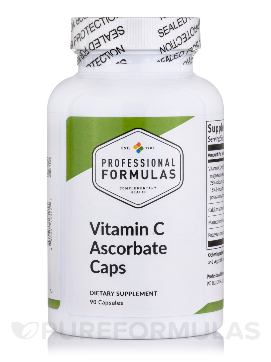 Buffered Vitamin C Ascorbate - 90 Capsules