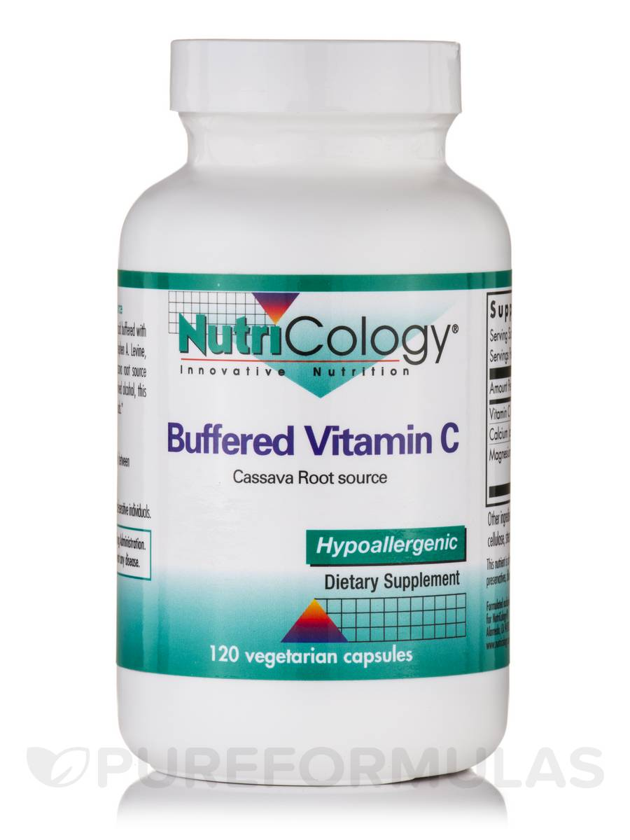 Buffered Vitamin C Cassava Root Source - 120 Vegetarian Capsules