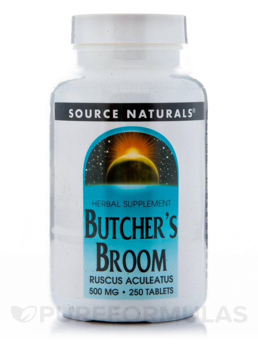 Butchers Broom 500 mg - 250 Tablets