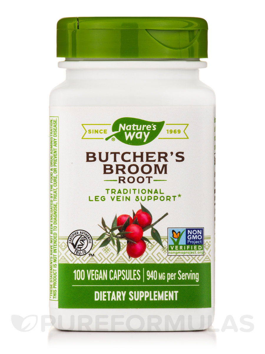 Butcher's Broom Root 470 mg - 100 Capsules