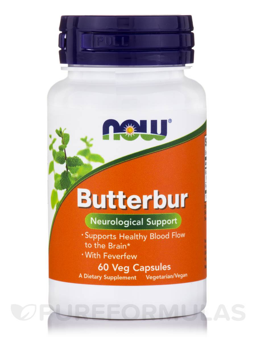 Butterbur with Feverfew 75 mg - 60 Vegetable Capsules