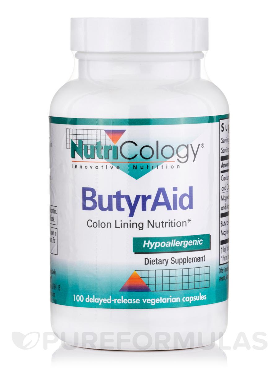 ButyrAid - 100 Delayed-Release Vegetarian Capsules