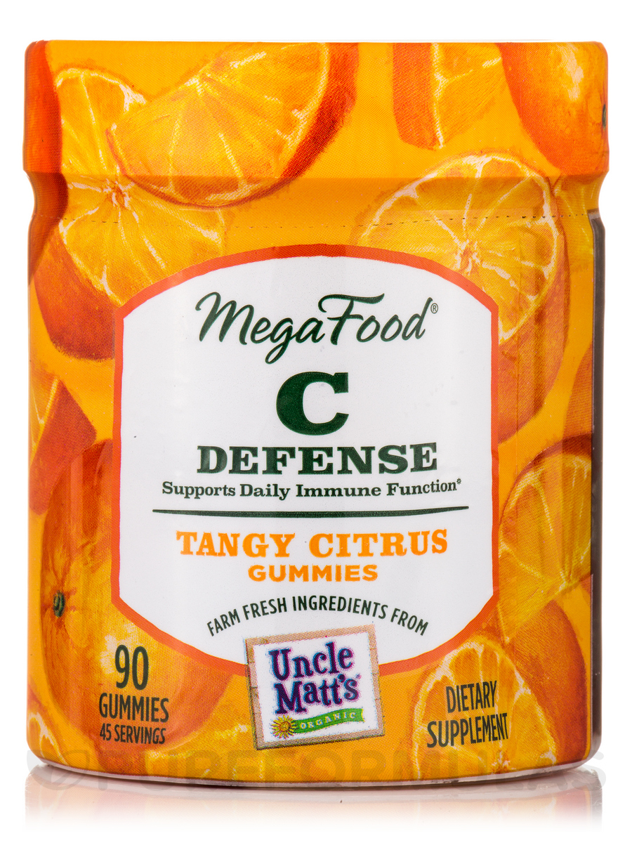 C Defense Tangy Citrus Gummies - 90 Gummies