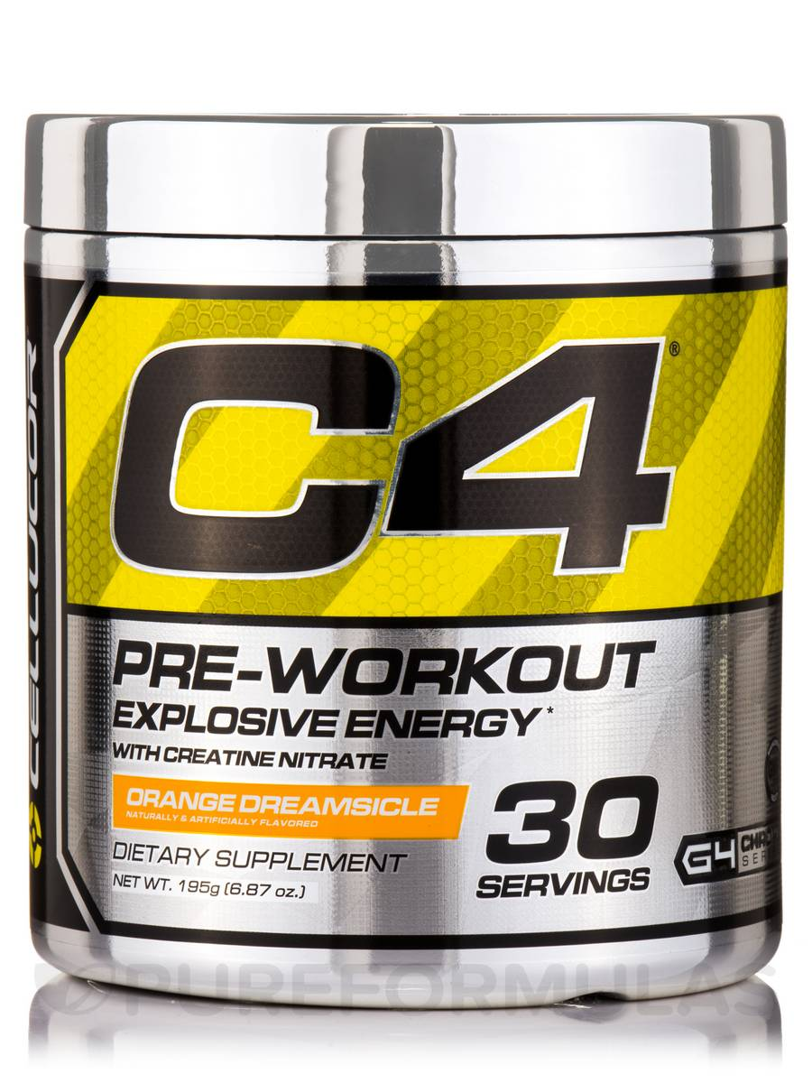 C4 Pre-Workout Orange Dreamsicle Flavor - 30 Servings / (6.87 oz / 195 Grams)