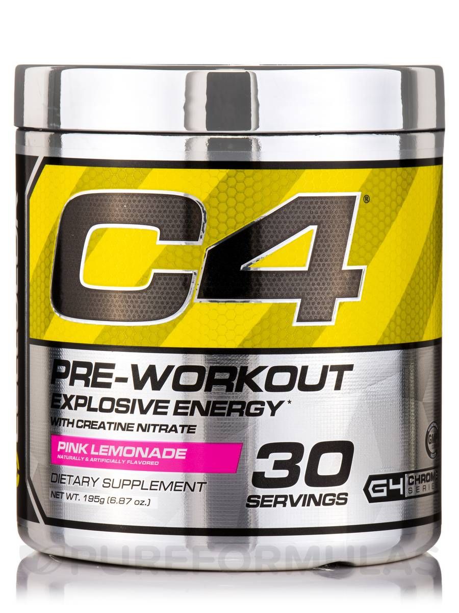 C4 Pre-Workout Pink Lemonade Flavor - 30 Servings / (6.87 oz / 195 Grams)