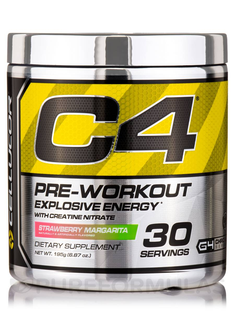 C4® Explosive Energy Pre-Workout, Strawberry Margarita Flavor - 30 Servings (6.87 oz / 195 Grams)