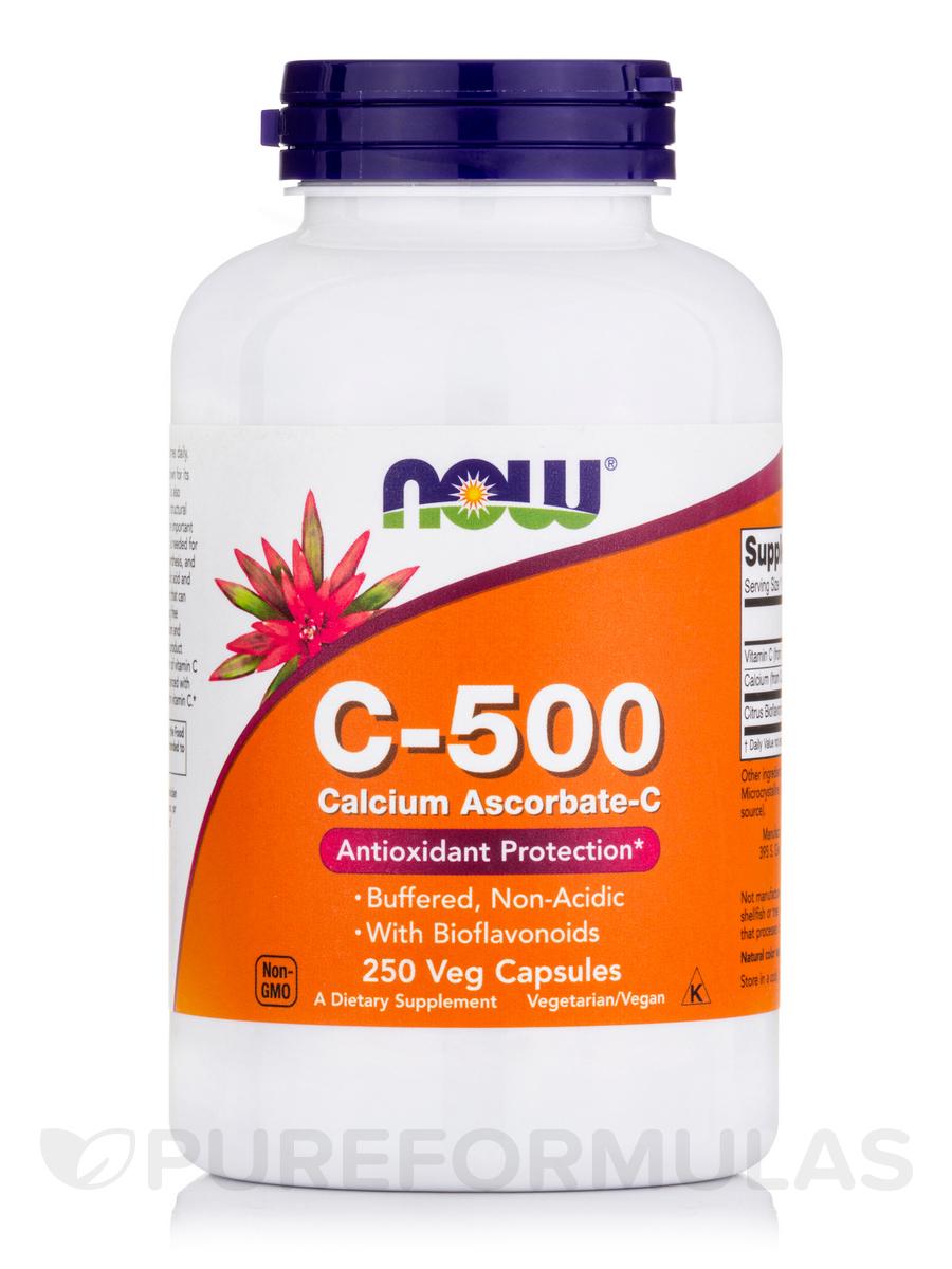 C-500 Calcium Ascorbate-C - 250 Capsules