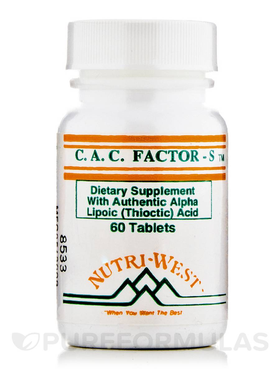 C.A.C. Factor-S - 60 Tablets