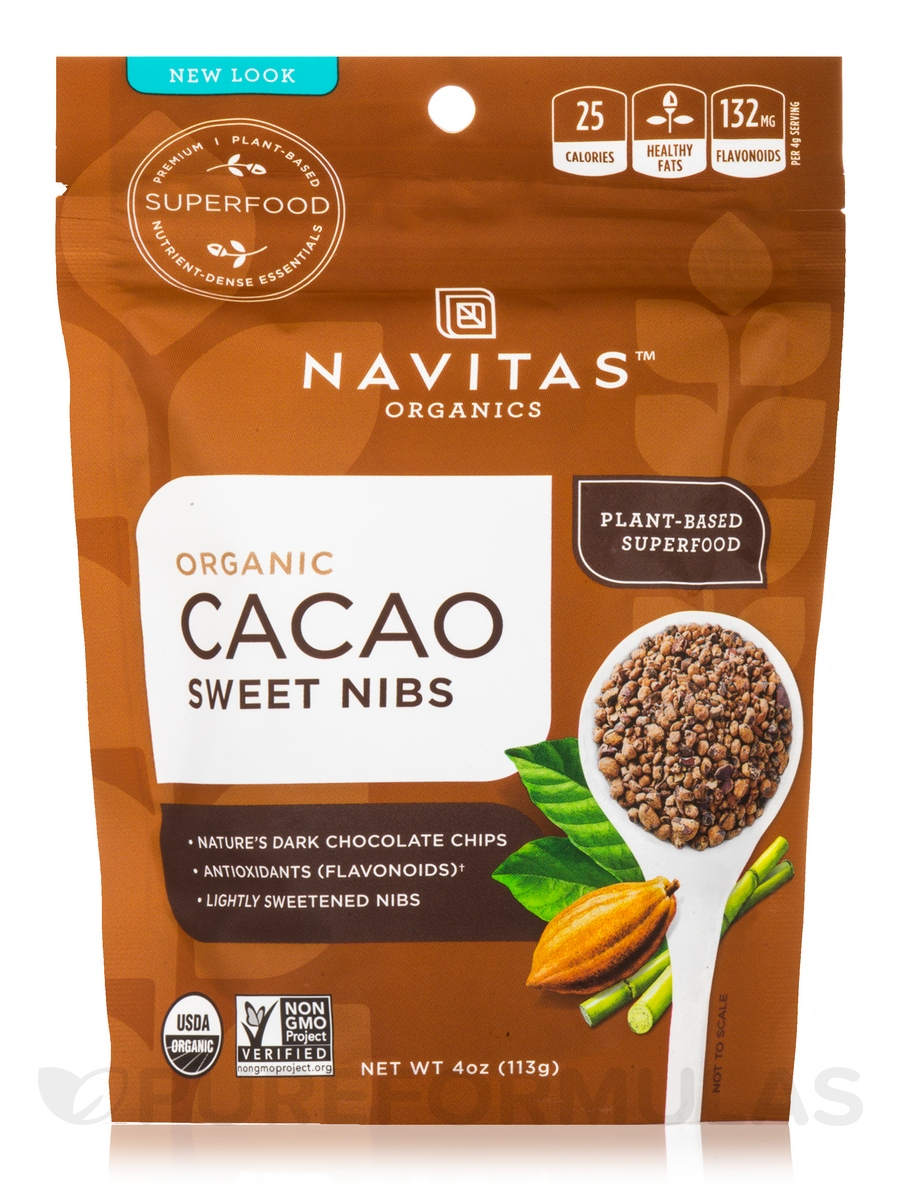 Cacao Sweet Nibs - 4 oz (113 Grams)
