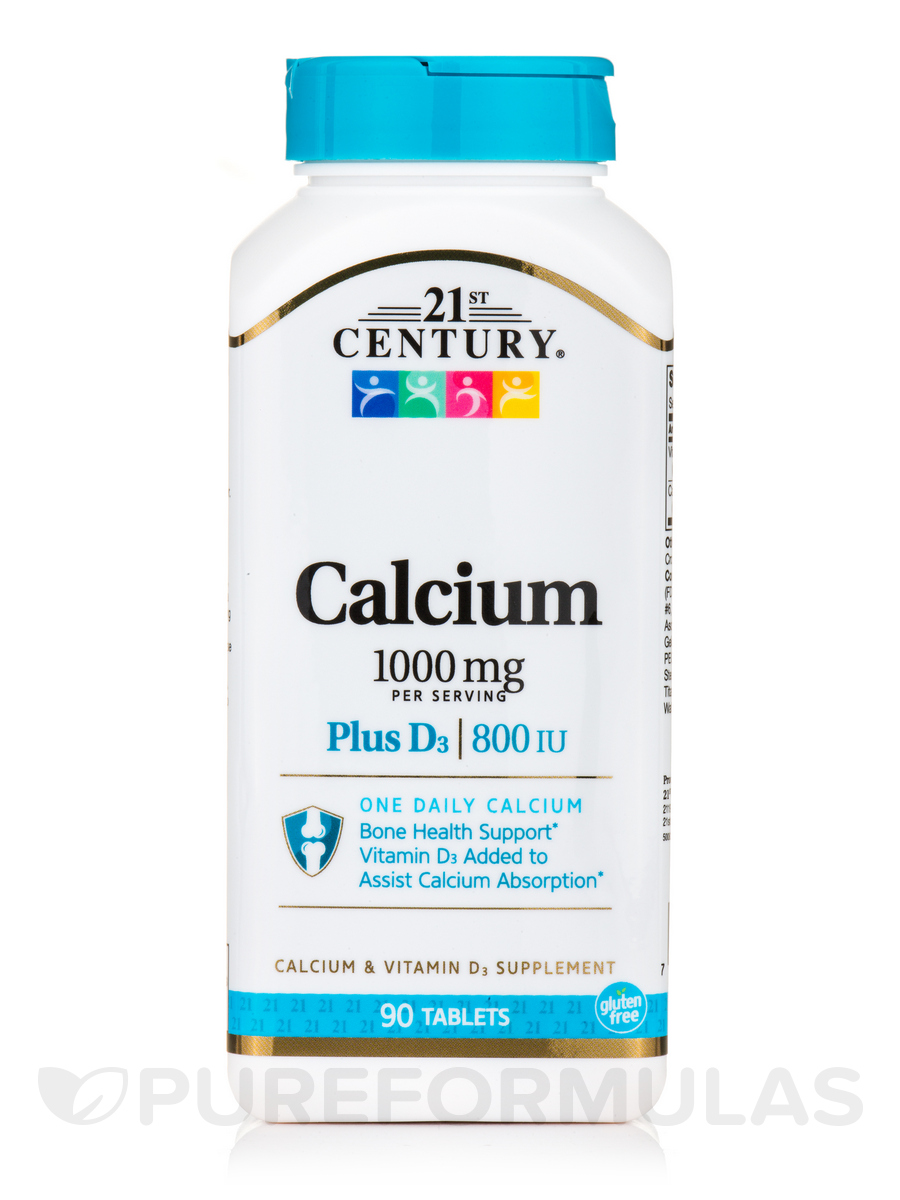 Calcium 1000 mg plus D - 90 Tablets