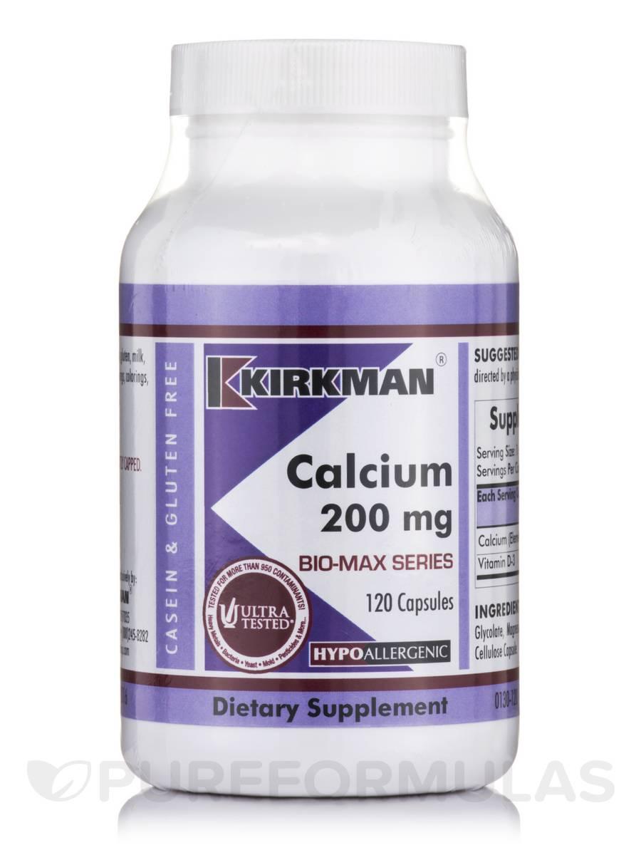 Calcium 200 mg -Hypoallergenic - 120 Capsules