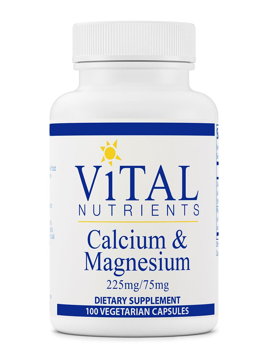 Calcium & Magnesium 225 mg / 75 mg - 100 Capsules