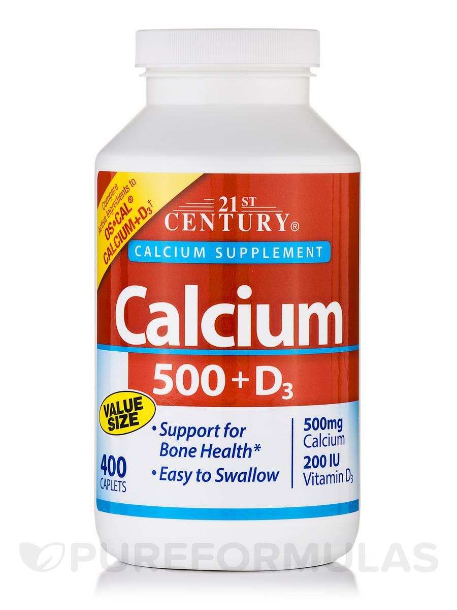 Calcium 500 + D3 - 400 Caplets