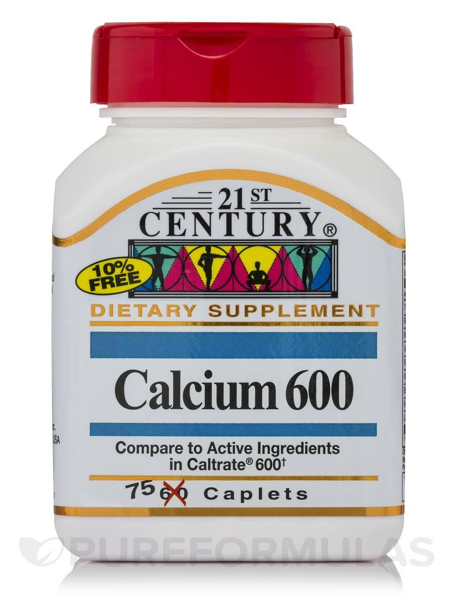 Calcium 600 mg - 75 Caplets