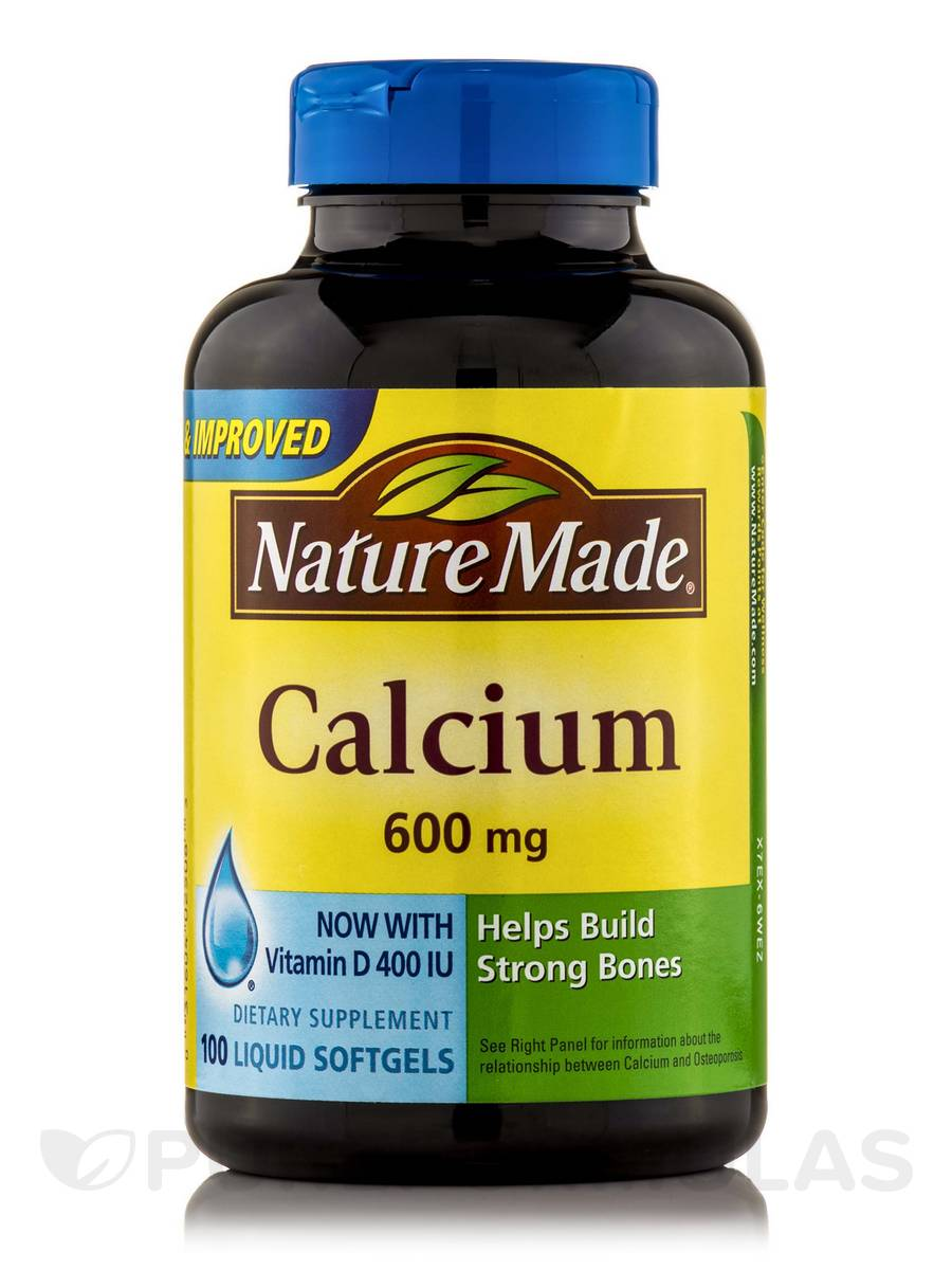 Calcium 600 mg with Vitamin D - 100 Softgels
