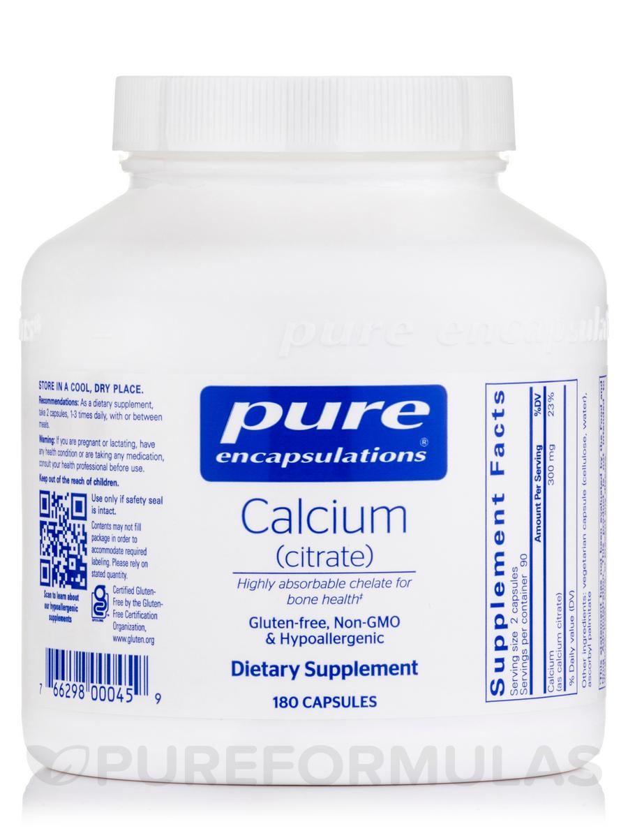 Calcium (citrate) - 180 Capsules