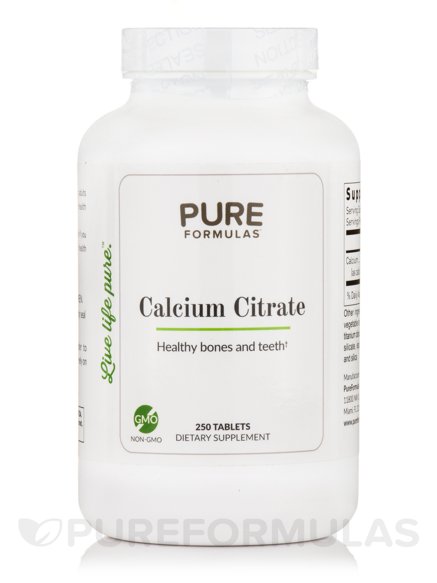 Calcium Citrate - 250 Tablets