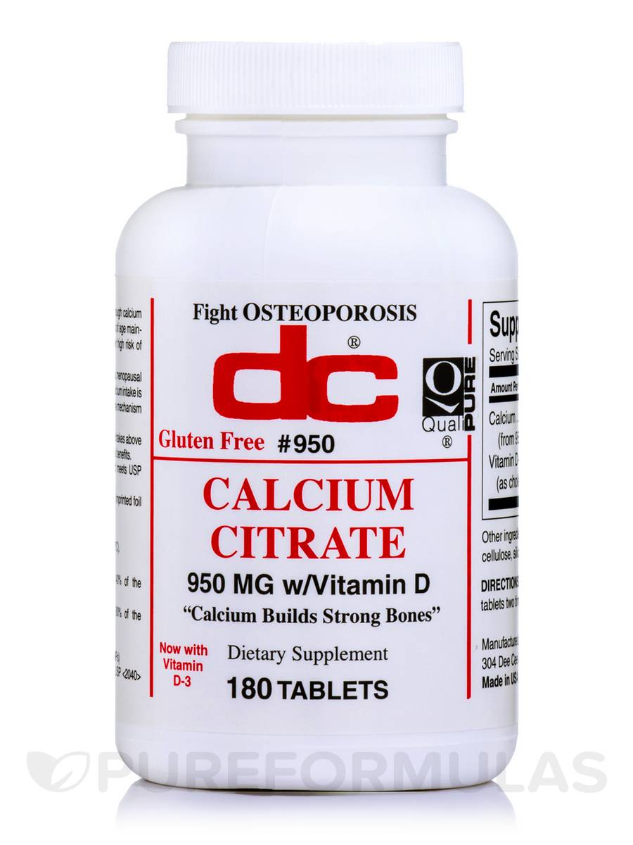 Calcium Citrate 950 mg - 180 Tablets