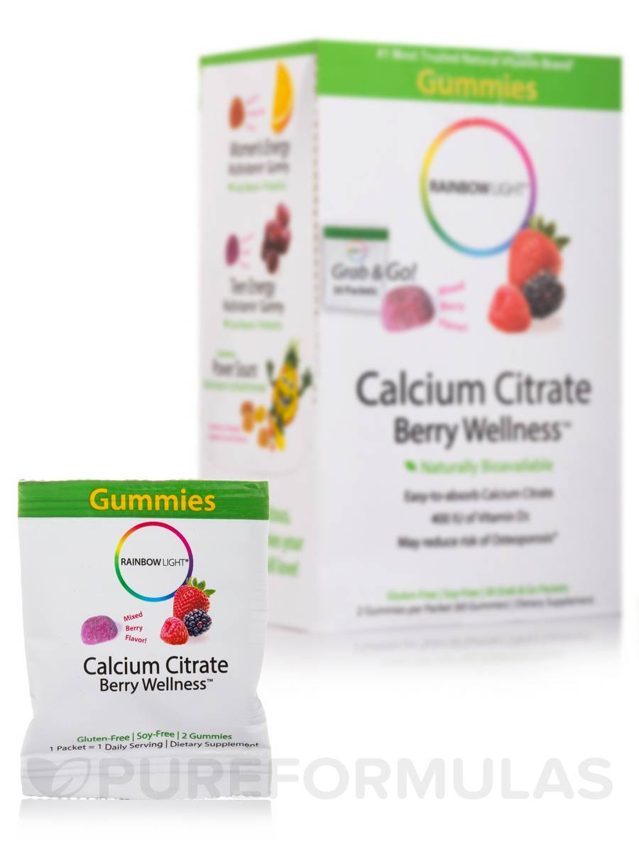 Calcium Citrate Berry Wellness™ (Mixed Berry Flavor) - 60 Gummies
