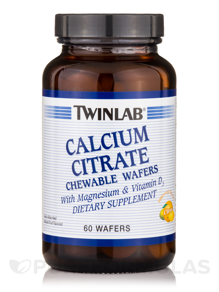Calcium Citrate Chewable Wafers with Magnesium & Vitamin D3 - 60 Wafers