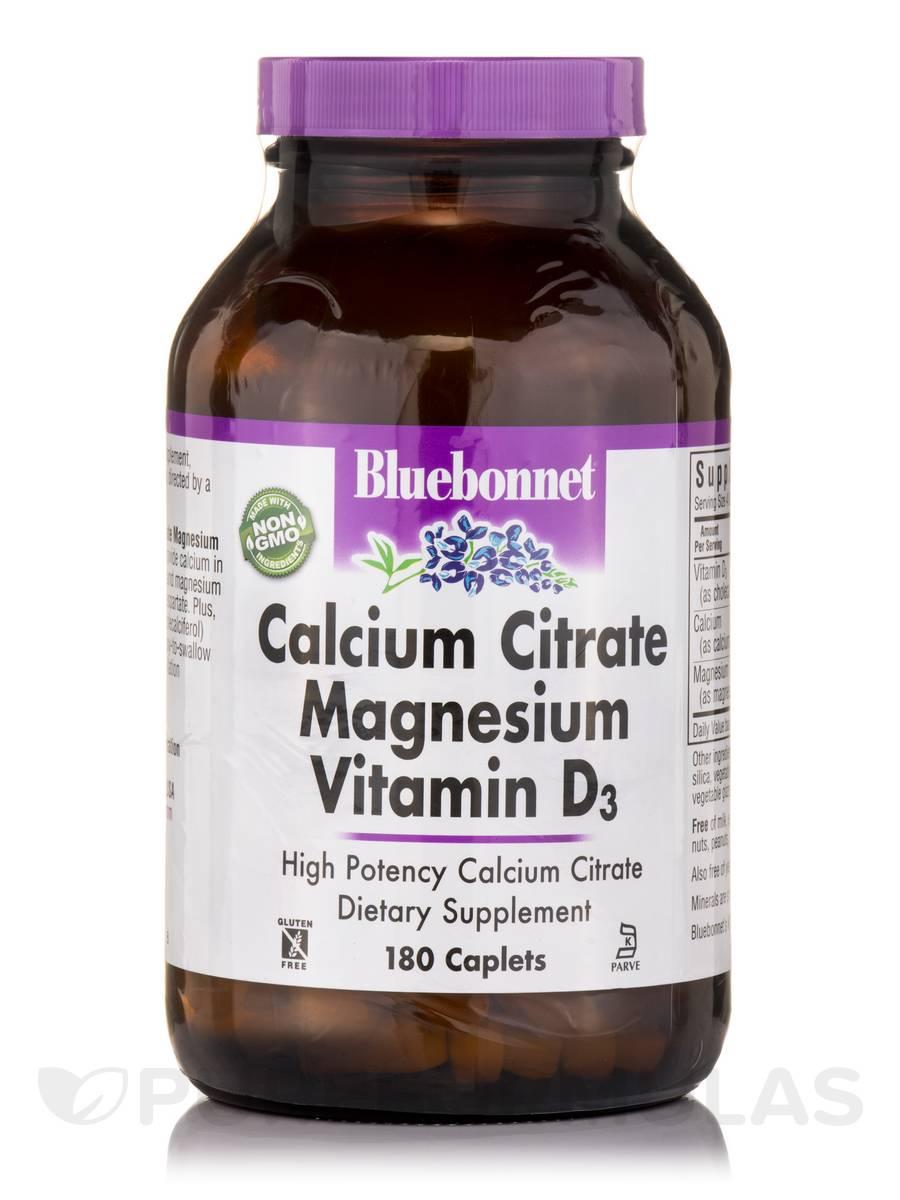 Calcium Citrate Magnesium Plus Vitamin D3 - 180 Caplets